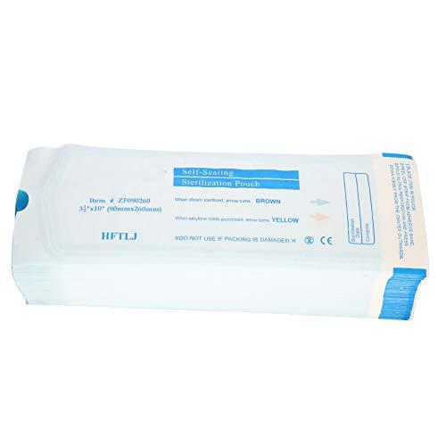 200Pcs Box Sacchetto per sterilizzazione autosigillante per strumenti dentali Sacchetto per sterilizzazione autosigillante per strumenti dentali(90 * 260 millimetri)