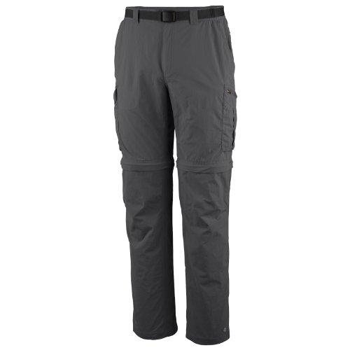 Columbia 2-in-1 Wanderhose für Herren, Silver Ridge Convertible Pants, Nylon, grau (Grill), Größe: 28, AM8004