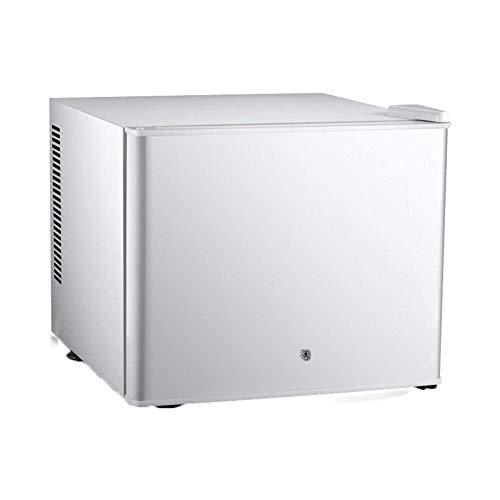 TUNBG hotelkamer koelkast levensmiddelgekoelde vitrine 20 liter grote capaciteit draagbare auto thuis dual use-koelkast mini-vrieskast - zwart/wit