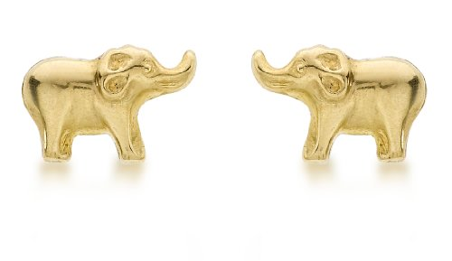 Carissima Gold Women's 9 ct Yellow Gold 8.2 x 5.5 mm Baby Elephant Stud Earrings
