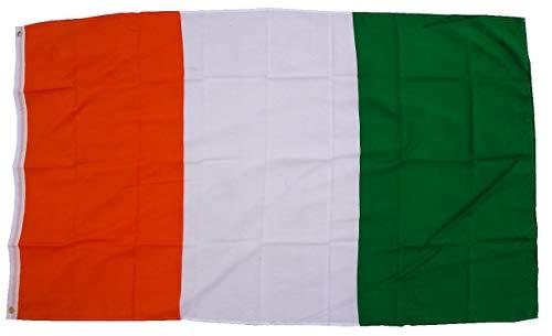 Trends4cents Topkwaliteit - Vlag Ivoorkust Côte D'Ivoire vlag, 250 x 150 cm, extreem scheurvast, geen goedkoop Chinaproduct, stofgewicht ca. 100 g/m2, zeer robuust, extra sterke messing oogjes.