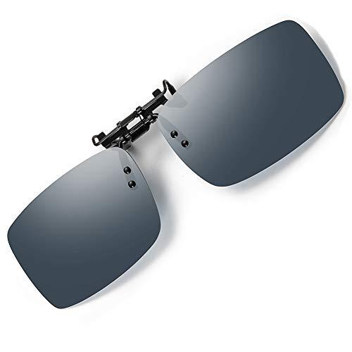 SOXICK Clip-On Polarized Sunglasses for Glasses- Unisex Flip Up Sun Glasses for Prescription Glasses