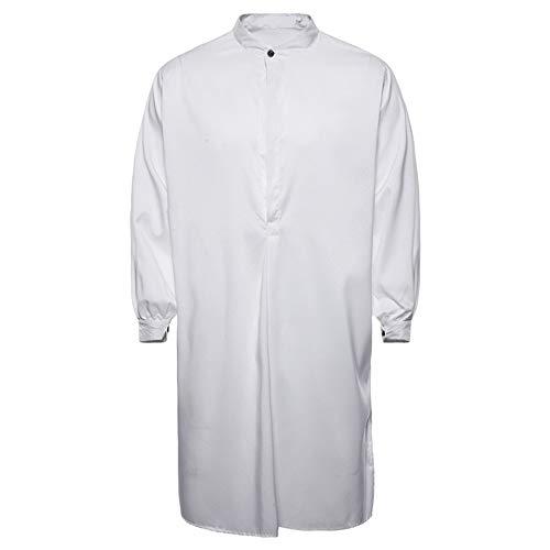 CICIYONER Muslim Lange Ärmel Hemd Oben Herren, Herren Herbst Beiläufig Thobe islamisch Arabisch Kleidung
