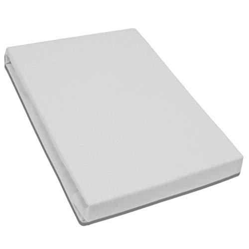 Formesse Spannbettlaken Spannbetttuch Bella Donna La Piccola Jersey für Boxspring Topper 180x200 cm (weiß)