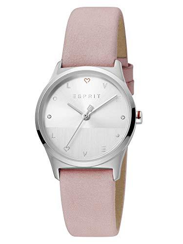 Esprit ES1L092L0035 Blite Silver Pink Set Uhr Damenuhr 3 bar Analog Rosa