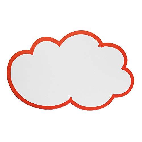 Franken GmbH UMZ WM Moderations-Wolken, 14x23cm, 20 Stück, weiß mit rotem Rand