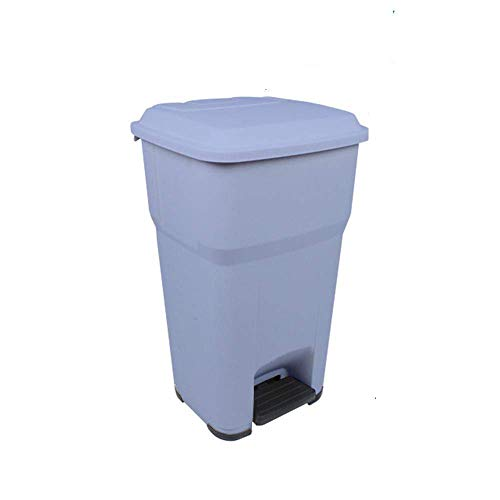DGHJK Bote de Basura con Pedal de 55L, Cubo de Basura de Reciclaje Grande, Basura Sanitaria de plástico, Propiedad de saneamiento al Aire Libre, Papelera verde-55