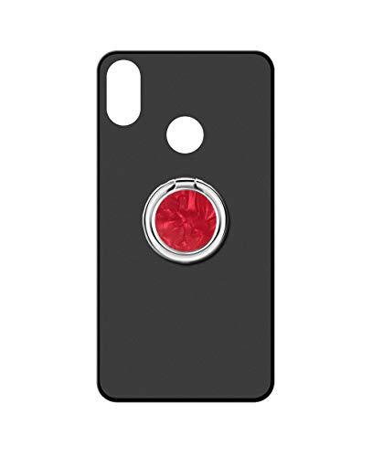 Sunrive Funda para bq Aquaris X2/X2 Pro, Silicona Mate Gel Carcasa Case Bumper Anti-Arañazos Espalda Cover Anillo Kickstand 360 Grados Giratorio(A5 Rojo) + 1 x Lápiz óptico