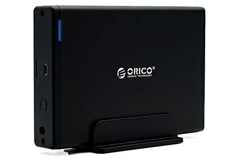 ORICO 7688C3 Externe Festplatte 1TB 3,5 Zoll USB C, SATA III, 1000GB Festplatte Backup HDD für PC Laptop Notebook unterstützt Windows, Mac OS, Linux mit 12V 2A Netzteil und USB C auf USB 3.0 Kabel