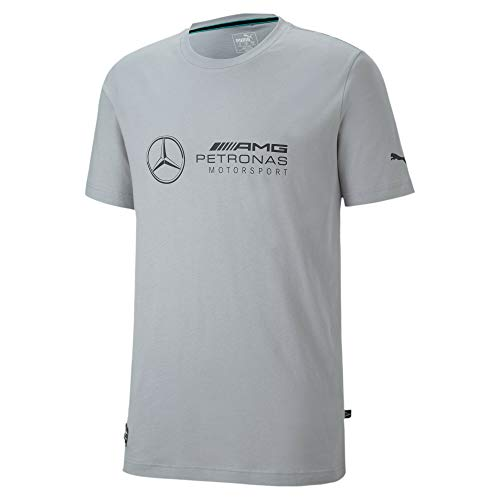 PUMA Herren AMG Petronas Logo T-Shirt, Mercedes Team Silver, XXL