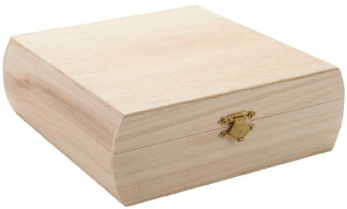 Darice Unfinished Craft, 11.5 by 8.5 inch, Wood Purse Box, 7.25
