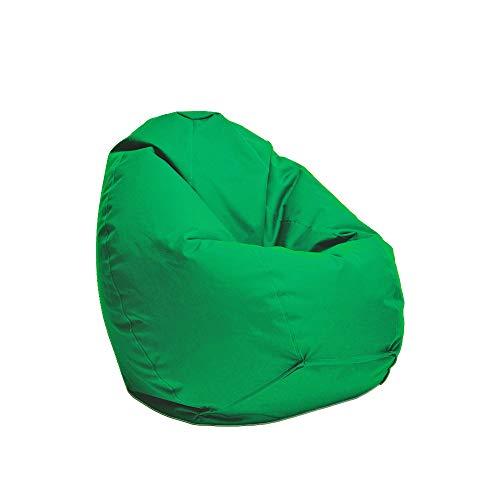 Bruni Kinder-Sitzsack Classico S in Tannengrün – Sitzsack mit Innensack für Kinder, Abnehmbarer Bezug, lebensmittelechte EPS-Perlen als Bean-Bag-Füllung, aus Deutschland