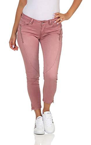 Buena Vista Damen 7/8 Jeans Malibu-Zip K Stretch Twill Rose - XS