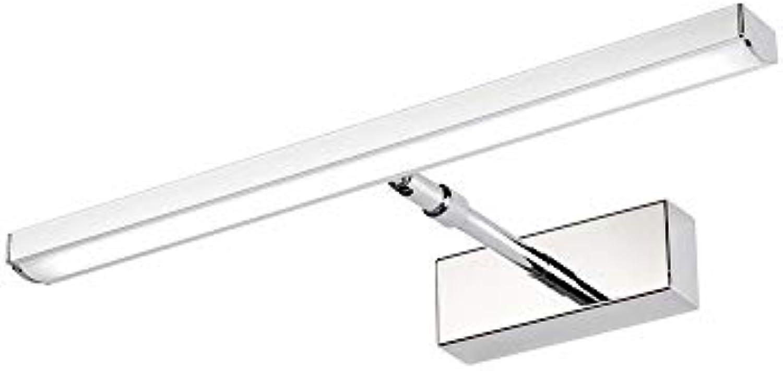 YWJ Led-Spiegel-vorderlicht Spiegel feuchtigkeitsBestendige Wasserdichte kabinett Lampe Bad Bad Wand objektiv Lampe dekorative Wandleuchte (Farbe   Wei, gre   12w 49cm 6120)