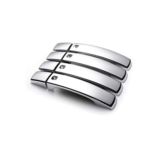 NTUOO 8Pcs Coche Tiradores Exteriores Puerta Decoración Cubierta, para Land Rover Range Rover Sport 2010-2013 Exterior Door Handle Trim Cover Sticker, Auto Carrocería Accesorios