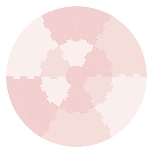 Sebra Spielmatte, Krabbeldecke, Puzzlematte besteht aus 13 Teilen in vier zarten Rosatönen - dusty pink