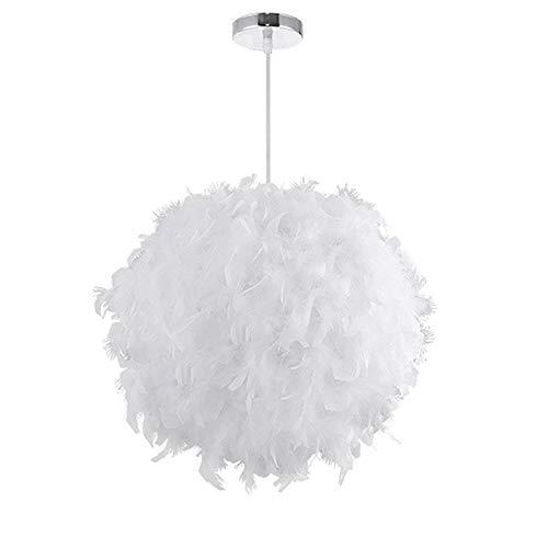 Led Feder Pendelleuchten Ball Schatten Moderne Romantische E27 Lampenschirm Hänge Kronleuchter Dekorative Droplight für Wohnzimmer Kinderzimmer Weiß (Ohne Glühbirne)