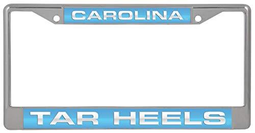 Rico Industries, Inc. University of North Carolina UNC Tar Heels Inlaid Acrylic Metal License Plate Chrome Frame