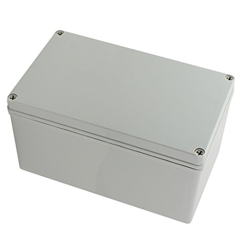 YXQ 9.8 x 5.9 x 5.1inch Junction Box Electrical Project Case IP65 Waterproof ABS DIY Power Outdoor Enclosure Gray (250 x 150 x 130mm)