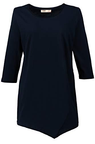 Ulla Popken Damen große Größen Zipfelshirt Marine 42/44 719491 70-42+