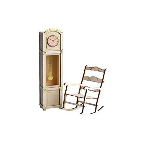 Artesanía Latina 30201 - Orologio da nonno con decorazione/sedia a dondolo in ottone