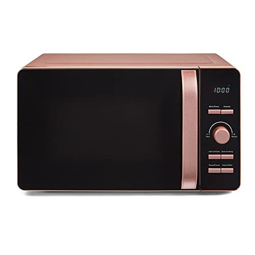 Tower Glitz T24021PS Digital Microwave with 60-Minute Timer, 6 Power Levels and 8 Auto-Cook Options, 20L, 800W, Pink