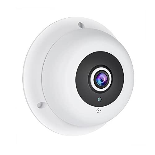 Revotech Fisheye Telecamera IP POE con Audio, Telecamera di Sicurezza Dome da Interno ONVIF 1,7 mm Grandangolare Obiettivo Visione Notturna 3MP CCTV Videocamera H.265 (IF04-Audio-P)
