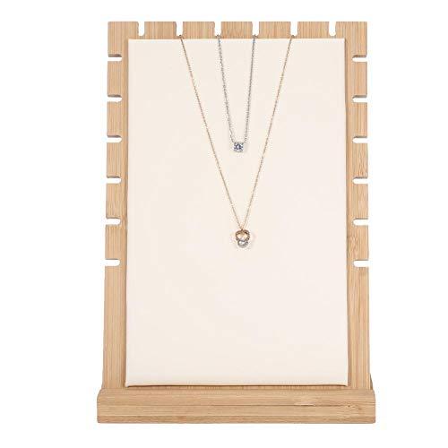 TMISHION Schmuckständer, Halskette/Armband/hängender Ausstellungsstand, Schmuckspeichergerät, hölzerner Rahmen der Halsketteanzeige, Damenschmucksacheorganisator (2#)