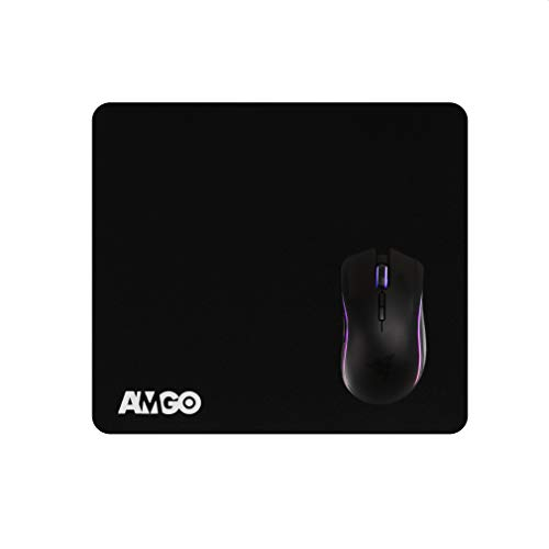 Amgo Gaming Mouse Mat / Keyboard & Desk Pad - Extra Thick 6mm - Precision Enhancedk, 13' x 11.2' x 0.24' (XXL) - 10 Year Warranty (S)