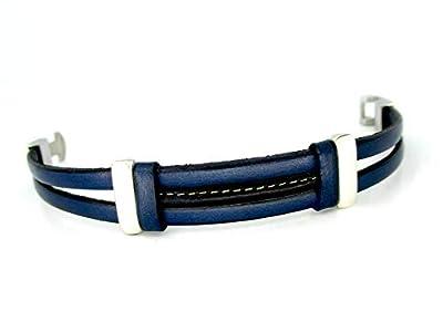 Bracelet en cuir, marine