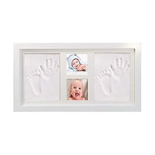 Amazon dos grandes dos pequeñas manos y pies marco de fotos huella de manos conjunto de barro huellas de manos y pies de bebé impresiones de manos y pies al por mayor