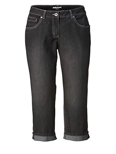 Dollywood Damen Straight Cut Jeans Amy Schwarz 50 Baumwolle