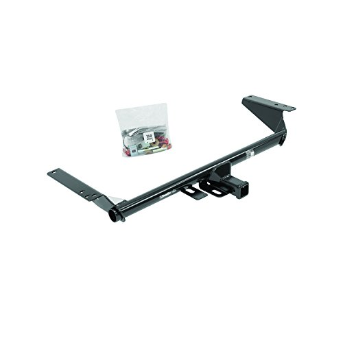 DrawTite 76046 Class III Round Tube MaxFrame Receiver with 2quot Square Receiver Tube Opening 555 Inch Black