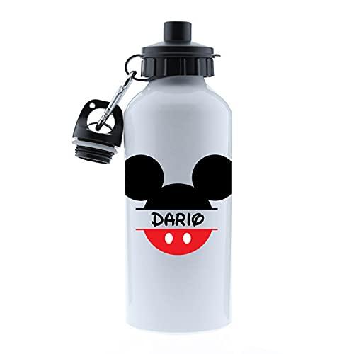 Kembilove Botella Agua Niños – Botella acero inoxidable Infantil Personalizada – Kembilove Botella Agua Niños – Botella acero inoxidable Infantil Personalizada – Regalos Personalizados Mickey