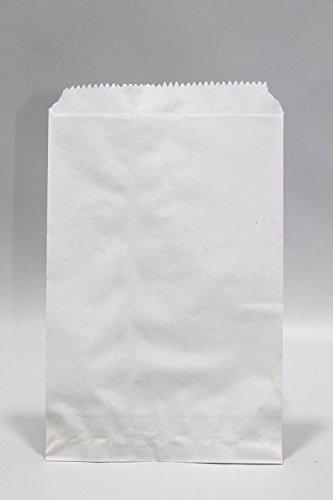 Weiße Papierbeutel Cellulose Papier 35grs 13x20 cm (100 Stück) [PAVL1310]