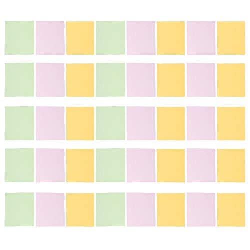 EXCEART Paños de Limpieza de Microfibra para Lentes de Cámara Gafas Joyas Portátiles 50 Piezas (Color Aleatorio)