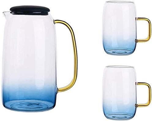 GAOLILI Tetera Tetera de 1550ml / 54,5 oz Cristal Simple Hervidor Diseño Premium Grade Transparente Tetera con Integrado hostelerías Oficina Manejar Conjuntos Jarra de té