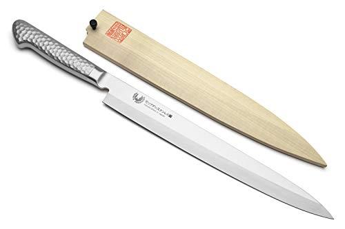 Yoshihiro Hayate Inox Aus-8 Yanagi Sushi Sashimi Japanese Chef Knife Integrated Stainless Handle ((10.5' (270mm)))
