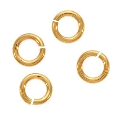 Beadaholique GFJL04 10-Piece Filled Jump Lock Rings, 4mm, 20-Gauge, Gol