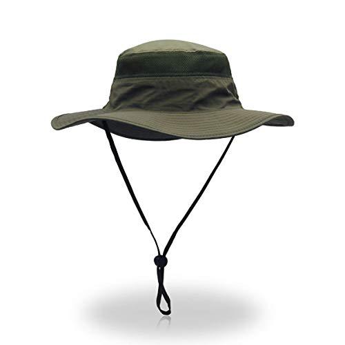 ToVii Sombrero de Pescador para Hombre Mujer Windproof UPF 50+ Protecc