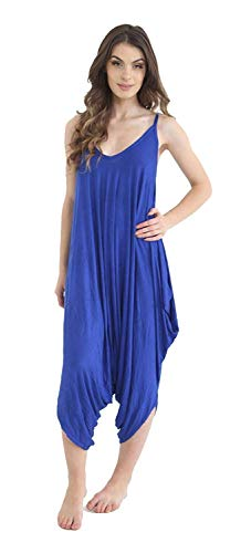 MISS BOHO CHIC dames Womens Plain Ali Baba Harem pak Cami Strappy Lagenlook jurk Oversized All in One Jumpsuit Royal Blauw