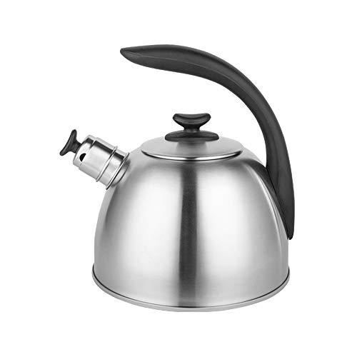 Tetera Hervidor de gas con silbato, caldera superior de acero inoxidable, hervidor de silbato de estilo retro, adecuado para todos los tipos de cocina / estufa, incluida la inducción Caldera de silbid