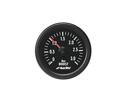 Simoni Racing BV/B2 Indicatore Meccanico di Pressione Turbo+VAC specifico per motori Turbo Diesel, Nero