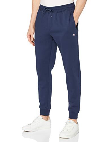 Tommy Jeans TJM Slim Fleece Sweatpant Pantalon de survtement, Twilight Navy, Small Homme