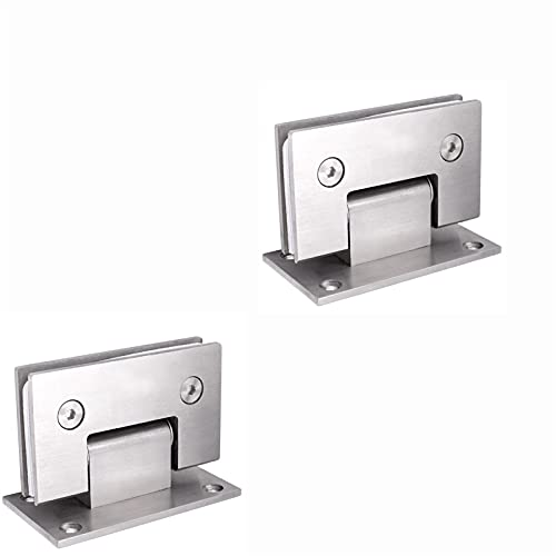 Lpgg-ZZ 2 Pack Stainless Steel 90 Degree Glass Clip Shower Room Glass Door Hinges, Replacement Parts Wall to Glass Frameless Sliding Door (Size : Pack of 2 pieces)
