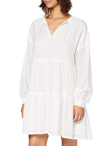 ONLY Damen ONLAGGY L/S Dress WVN Kleid, Cloud Dancer, 36