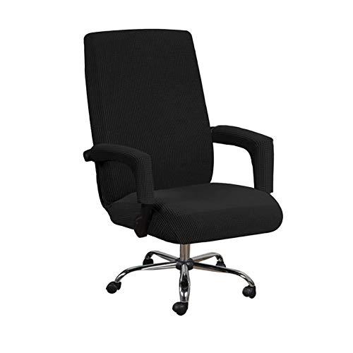 GAEA.TEX - Funda para silla de oficina con funda giratoria para silla de computadora (mediano, negro)