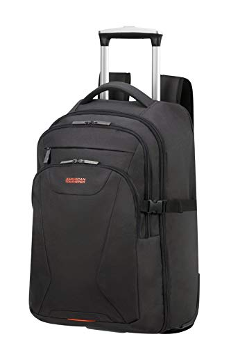 American Tourister At Work Zaino con ruote M (15.6'), Nero (Black/Orange)