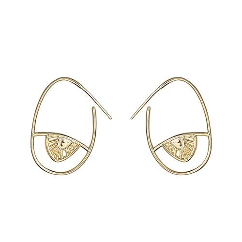 1 piercing para orejas para mujer, diseño de ojos de personalidad