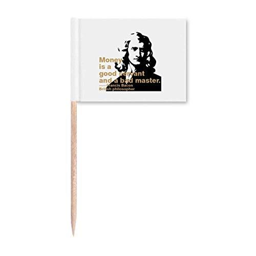 Bacon Interpretation Geld Zahnstocher Flaggen Marker Topper Party Dekoration